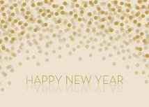 Champagne Wishes Happy New Year Card
