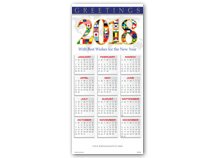2018 Wishes Calendar Cards